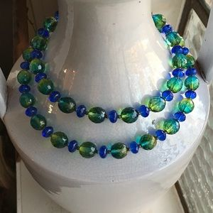 Joan Rivers Faceted Ombré Crystal Bead Necklace